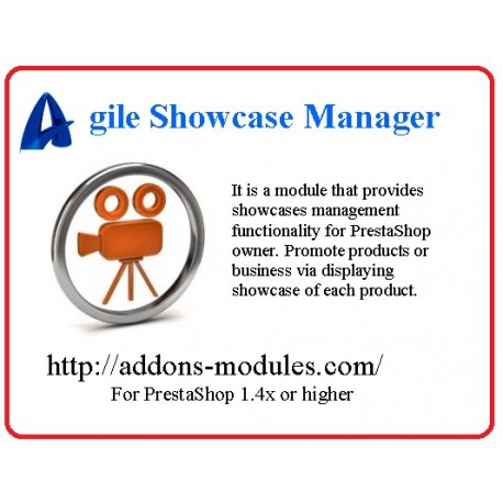 Agile PrestaShop Showcases Manager module