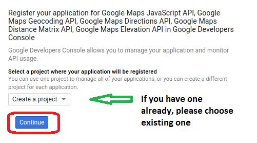 how to request google api key