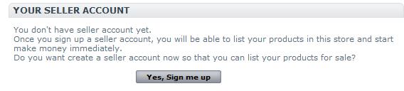 Manually sign up an seller account